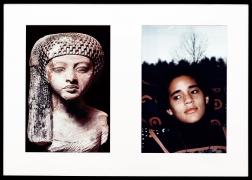 Miscegenated Family Album (Worldly Princesses), L: Nefertiti's daughter, Merytaten; R: Devonia's daughter, Kimberley, 1980/1994, Cibachrome prints, 26h x 37w in (66.04h x 93.98w cm)