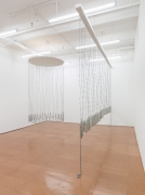 Left:Untitled,1983/2012; Right:Curtain for William and Peter,1969/2012Installation view, Alexander Gray Associates,2012