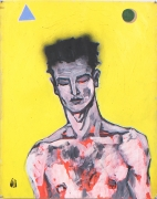 Self Portrait II, 1982, Acrylic and ink on paper