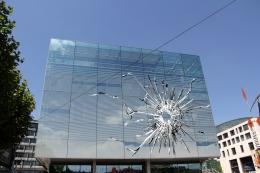 Digital rendering for Stray Bullet(Kunstmuseum Stuttgart, Germany), 2018/2019