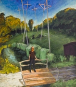 Telephone Poles, 1991, Oil On Canvas