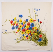 """Untitled, from the """"Florals"""" series, n.d., Watercolor on paper"""