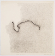 Luis Camnitzer, Unknotted Self-Portrait, 1978, Graphite on paper