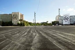 The Empty Plaza / La Plaza Vacia II, 2012, Digital Chromogenic Print; 26.13h x 39.5w in (66.37h x 100.33w cm)