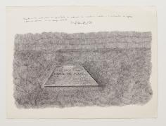 Aqui yace una obra de arte, 1973, Ink on paper