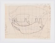 Preparatory drawing forReflexus(Museu de Arte Moderna, São Paulo, Brazil), 1985