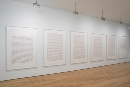 Last Words, 2008, 6 parts, Pigment prints, 66h x 44w in (167.64h x 111.76w cm)