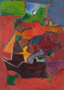 Red Ground, 1969, Oil on linen