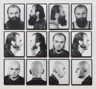 Heads (1970) Pigment prints in 12 parts; 11.8h x 9.4w in (30h x 23.9w cm) (each)