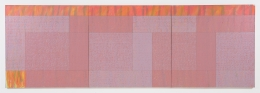 Triptych (Q3-75 #1), 1975, Oil on canvas