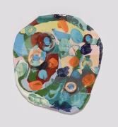 Jenny, 2014, Colored porcelain and glaze