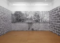 Bricks, 1974/2012Digital photo mural,Dimensions variable, Edition of 3 with 1 APInstallation view, Alexander Gray Associates, 2012