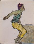 Gowestjungermann III (Berlin Series), 1984, Oil pastel and ink on paper