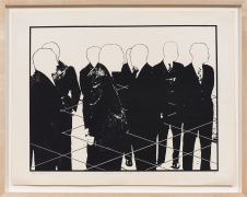 Armadilha para Executivos II, 1974, Silkscreen, 21.85h x 27.75w in (55.51h x 70.49w cm)