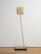 Sifter (The Mechanism for Killing a Spectator), 1978, Brass, flexible metal tube, platform