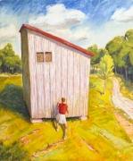Shadow Box, 1991, Oil On Canvas