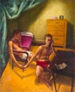 Handholding, 1990, Oil On Canvas