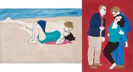 Romance/Restraint (Left: Paparazzi Shot, Right: Who's Afraid of Virginia Woolf?) (1983)