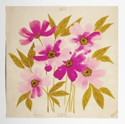 """Blossom, from the """"Florals"""" series [022], c. 1972, Watercolor and ink on paper"""