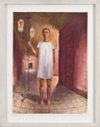 I.V. (1991) Oil on gessoed paper