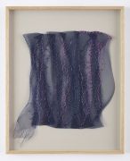 Sheila Hicks, La Foret Bleue I, 2001, Synthetic plaiting, rayon, silk, raffia