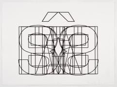Symmetrical Jails, 2014, Etching in 7 parts, 22.25h x 29.75w in (56.52h x 75.57w cm) each