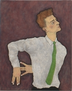 Self Portrait as Egon Schiele, 1996, Oil On Canvas