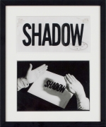 Valie Export, Shadow, 1970, Silver gelatin vintage print and transparent paper