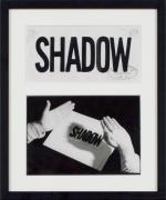 Valie Export, Shadow, 1970, Silver gelatin vintage print and transparent paper