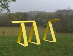 Ntrytry, 1981 Painted welded steel and chain