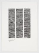 Wave-like and Straight Horizontal No. 1-5, 2007, Ink on paper