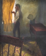 Falling Lamp, 1987, Oil on canvas