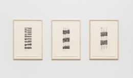 Vertical Lines No. 1, 2008, Ink on paper