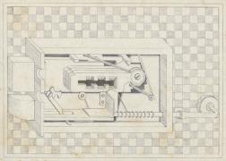 Cerraduras (Locks),1970 Felt-tip pen on paper