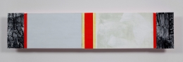 Ribbons of Honor #8, 2009, Acrylic collage on panel