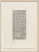 Diagonal Line No. 19, 2008, Ink and pencil on paper