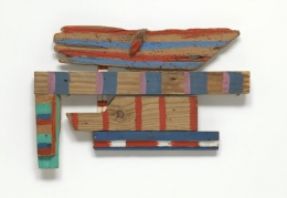 Wood-Wings, 1973 Acrylic on wood