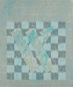 Knight Series #2 (Q3-75 #3) (1975), Oil on canvas