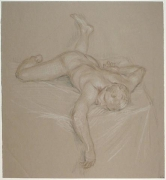 Paul Cadmus, Sleeping Nude Z14 (n.d.)
