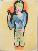 Gowestjungermann III (Berlin Series), 1984, Oil pastel and ink on paper