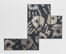 Touchin' Black I, 2016, Digital cut on aluminum plate