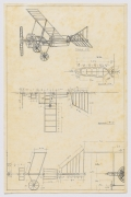 Serie Máquinas Inútiles. Manual de instalación de avioneta, 1974, Pen on paper