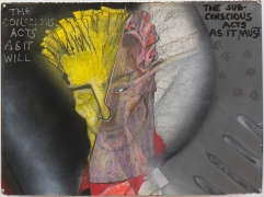 Split Focus, 1982, Mixed Media On Paper