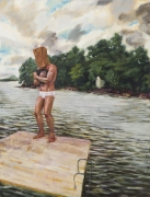 Raft, 1991, Oil on canvas