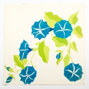 """Morning Glories, from the """"Florals"""" series [048], n.d., Tissue paper collaged on paper"""