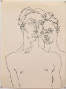 Double Self Portrait, 1978, Graphite on paper