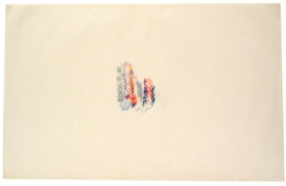 , ALAN SARET Dessert Peace, 1970 Color pencil on paper 24 x 38 inches