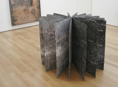 , ANSELM KIEFER Untitled [Secret Life of Plants], 2004 Mixed media on lead 39 1/2 x 53 1/2 x 53 1/2 in. (100.33 x 135.89 x 135.89 cm)