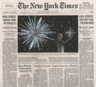 , FRED TOMASELLI May 14, 2013, 2013 Collage, gouache, marker, and archival inkjet print on watercolor paper 10 3/4 x 12 in. (27.3 x 30.5 cm)