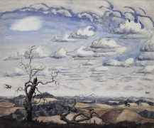 , CHARLES BURCHFIELD (1893-1967) Summer, 1926 Watercolor, gouache, charcoal and pencil on joined paper mounted on board 24 1/2 x 29 1/2 in. (62.2 x 74.9 cm)